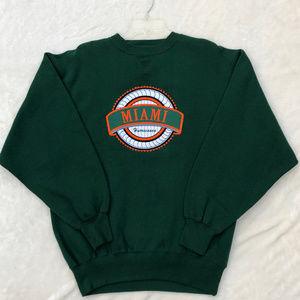 Vintage Miami Hurricanes NFL Sweatshirt Crewneck L